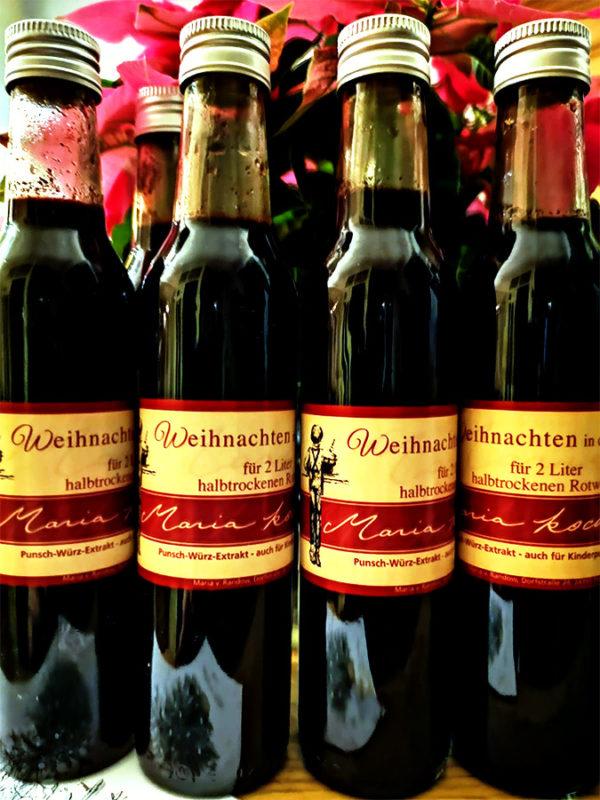 Produktfoto Punschkonzentrat Weihnachten in der Flasche