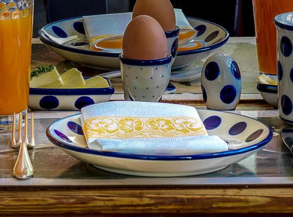 Bunzlauer Keramik: Frühstücksteller